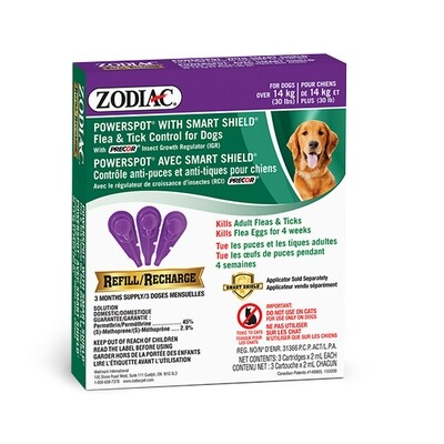 ZODIAC DOG FLEA & TICK SMARTSHIELD REFILL >14KG.