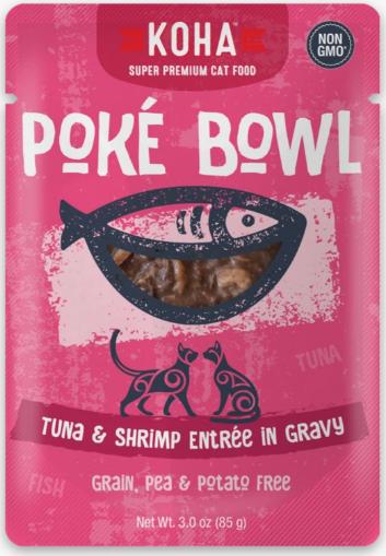 KOHA CAT POKE BOWL TUNA & SHRIMP 3OZ.