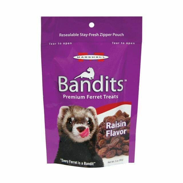 BANDITS FERRET TREAT RAISIN FLAVOR 4OZ.