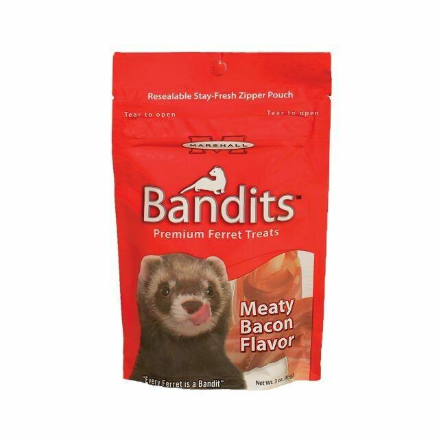 BANDITS FERRET TREATS BACON FLAVOR 3OZ.