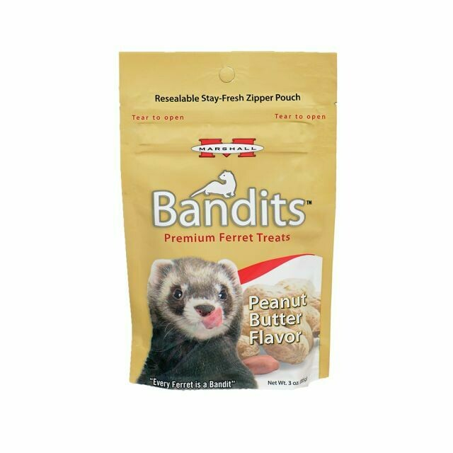 BANDITS FERRET TREATS PEANUT BUTTER FLAVOR 4OZ.