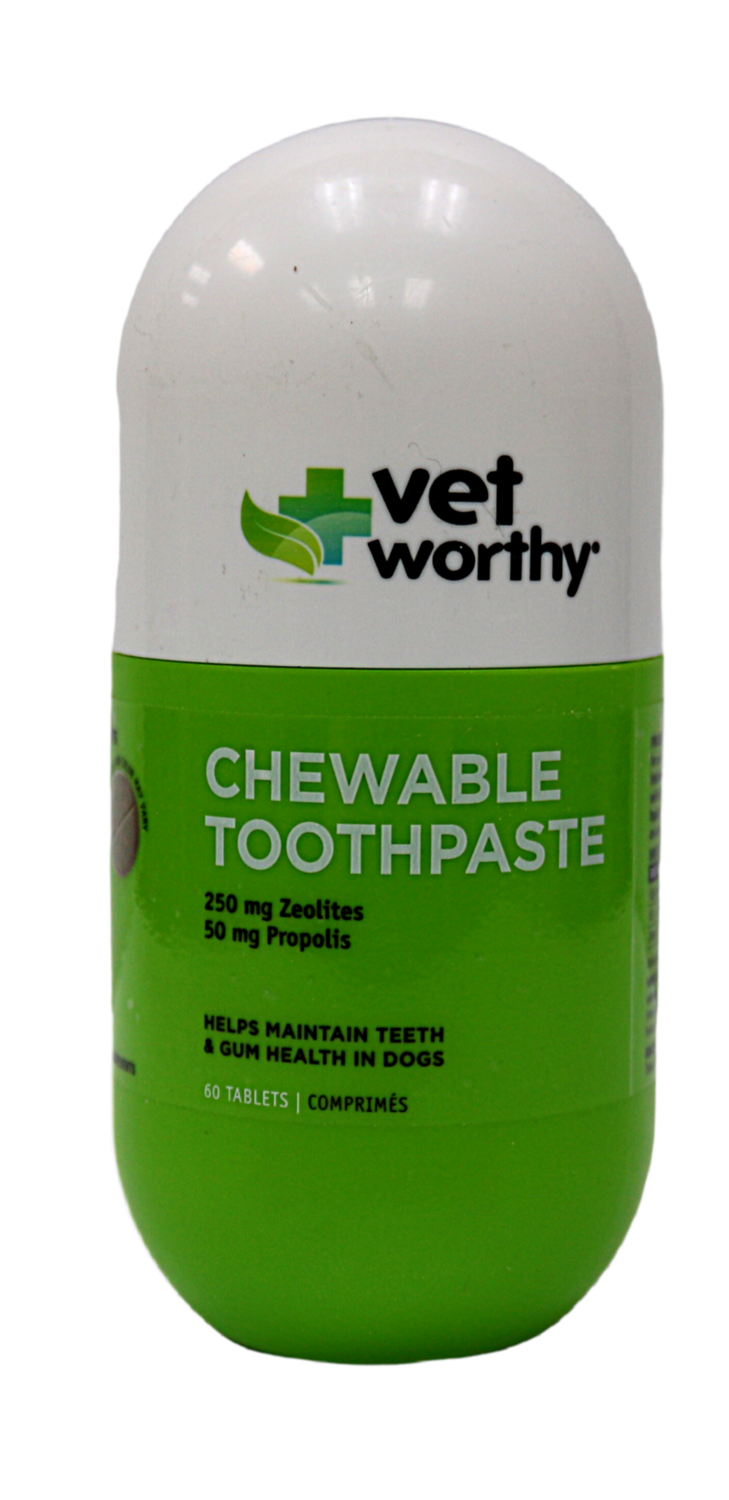 VET WORTHY TABLET TOOTHPASE 60CT.