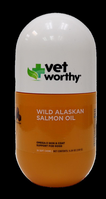 VET WORTHY ALSKAN SALMON OIL CHEW 20CT.