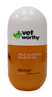 VET WORTHY ALSKAN SALMON OIL CHEW 20CT.