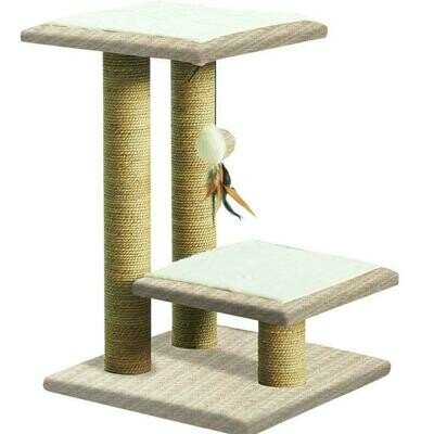 PAWISE TWO TIER CAT POST 76CM.
