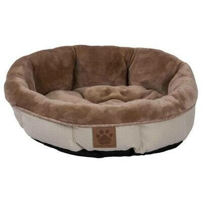 SNOOZZY RUSTIC ELEGANCE ROUND SHEARLING BED BEIGE 17X4.5IN.