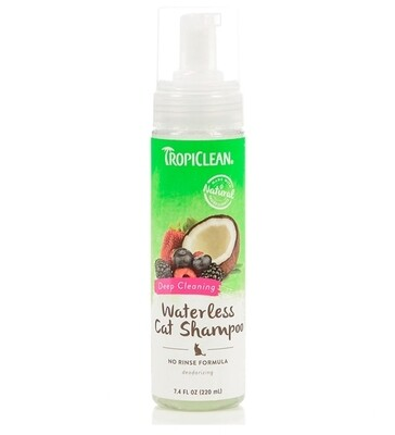 TROPICLEAN WATERLESS CAT DEEP CLEANING SHAMPOO 7.4OZ.