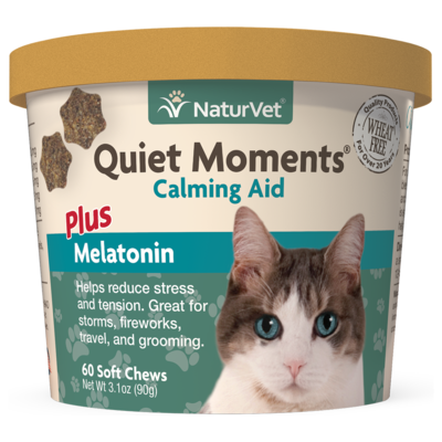 NATURVET QUIET MOMENTS CAT CLAMING AID 60PC.