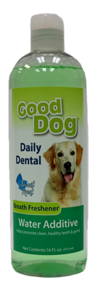 GOOD DOG DENTAL WATER ADDITIVE 16OZ.