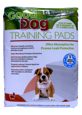 GOOD DOG TRAINING PADS 24X24IN 14PK.
