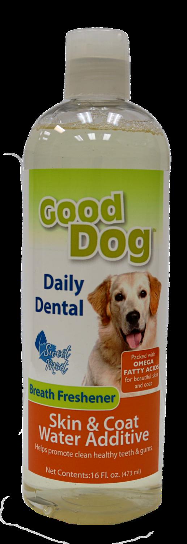 GOOD DOG DENTAL WATER ADDITIVE SKIN&COAT 16OZ.
