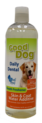 GOOD DOG DENTAL WATER ADDITIVE SKIN&COAT 16OZ.