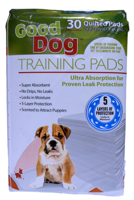 GOOD DOG TRAINING PADS 24X24IN 30PK.