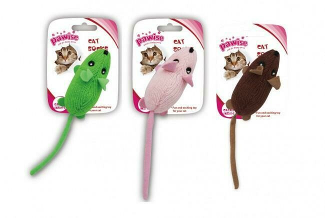 PAWISE SOCK MOUSE CAT TOY.