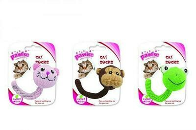PAWISE SOCK BALL CHARACTER CAT TOY.