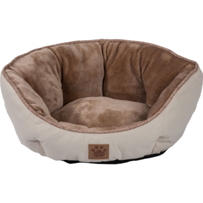 SNOOZZY RUSTIC CLAMSHELL BED 19X17X9IN BEIGE.