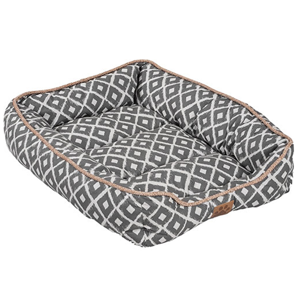 SNOOZY IKAT DRAWER BED 24X18X6IN GREY.