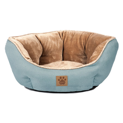 SNOOZZY RUSTIC CLAMSHELL BED 19X17X9IN TEAL.