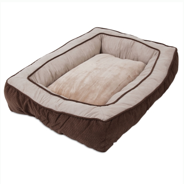GUSSET LOW BUMPER FLOOR PILLOW 27X36 CHOCOLATE.