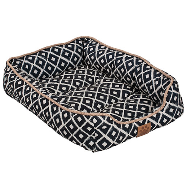 SNOOZY IKAT DRAWER BED 24X18X6IN NAVY.