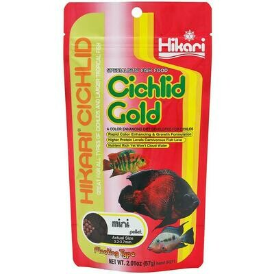 HIKARI FLOATING CICHLID GOLD MINI 2OZ.