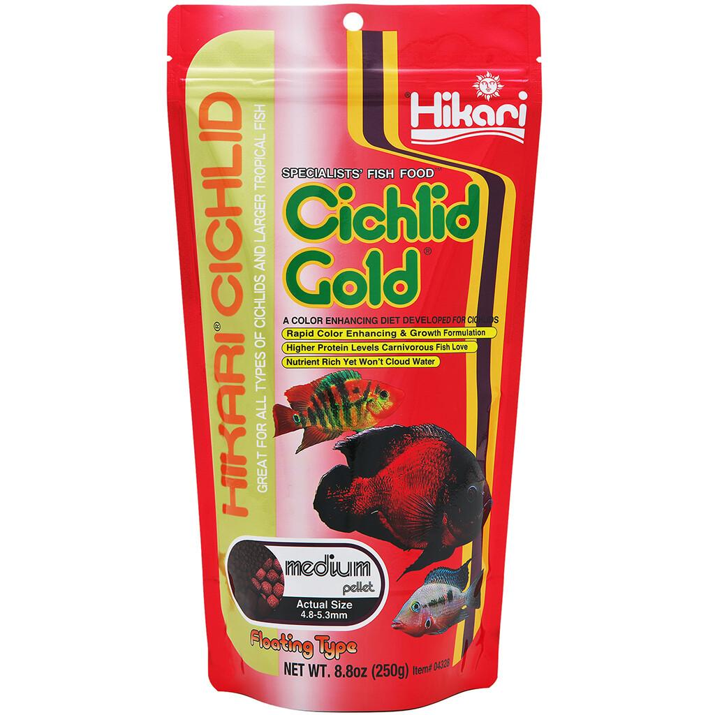 HIKARI FLOATING CICHLID GOLD MED 8.8OZ.
