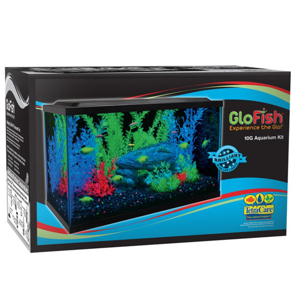 TETRA GLOFISH LED AQUARIUM KIT 10G.