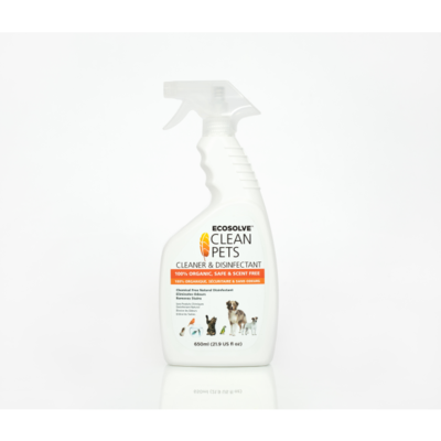 ECOSOLVE CLEAN PETS CLEANER & DISINFECTANT 650ML.