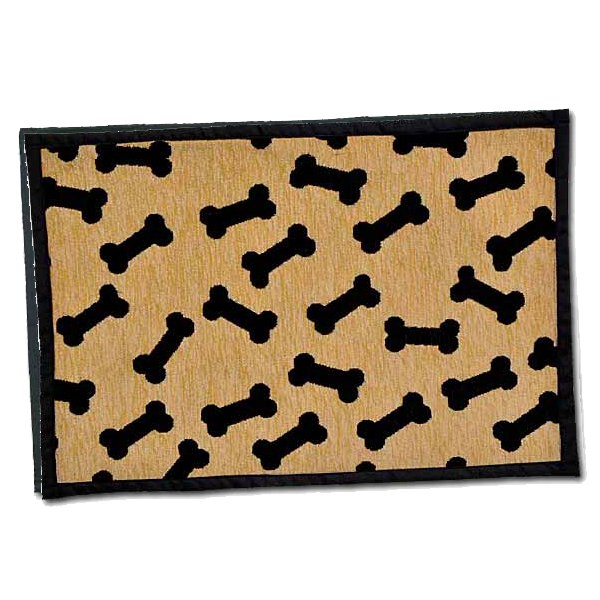 BELLA FASHION DOG DANCING BONES CHENILLE MAT.