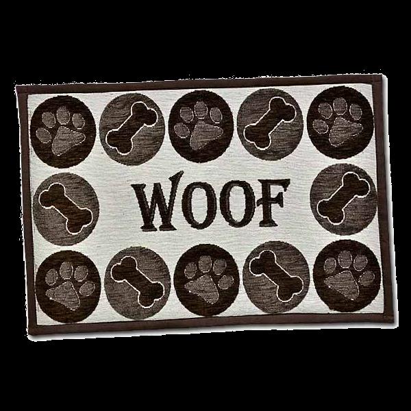BELLA FASHION DOG WOOF CHENILLE MAT.