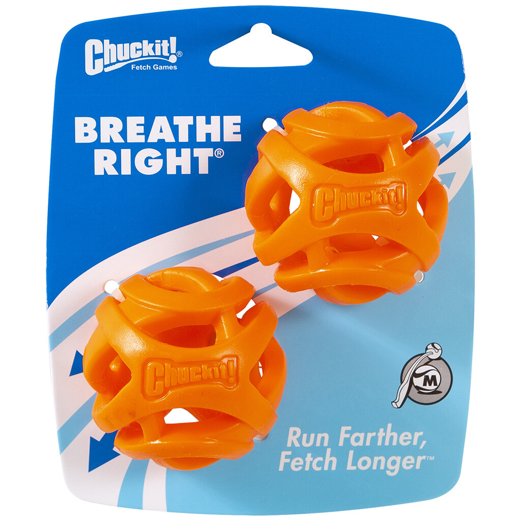 CHUCK IT BREATHE RIGHT BALL MED 2PK.