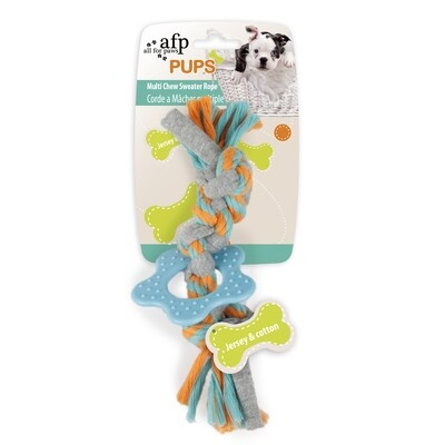 AFP PUPS SWEATER ROPE MULTI CHEW.