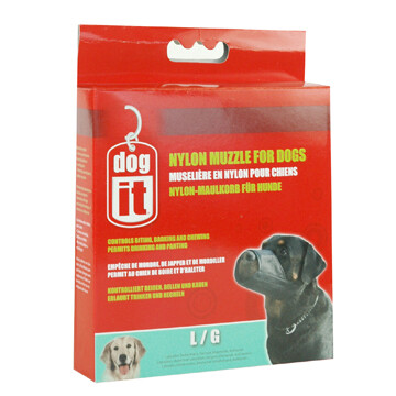 DOGIT NYLON DOG MUZZLE BLK - LG 7.3IN