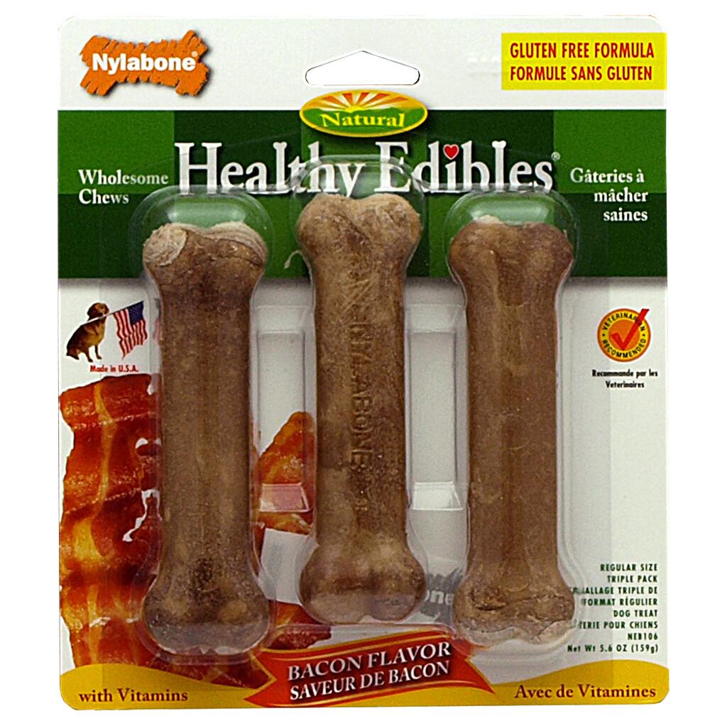 HEALTHY EDIBLES CHEW BACON SMALL 3PK.