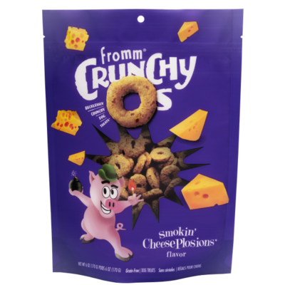 FROMM CRUNCHY O'S SMOKIN CHEESEPLOSIONS 6OZ.