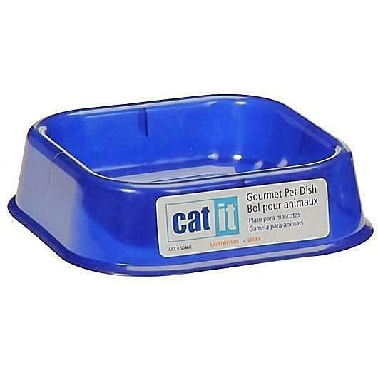 CATIT GOURMET KITTEN DISH BLUE.