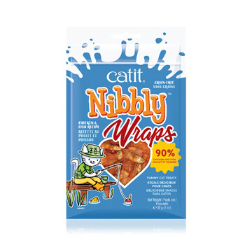 CATIT NIBBLY CHICKEN & FISH WRAPS 30G.