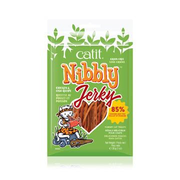 CATIT NIBBLY CHICKEN & FISH JERKY 30G.