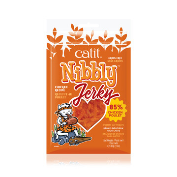 CATIT NIBBLY CHICKEN JERKY 30G.