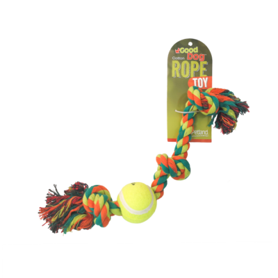 GOOD DOG ROPE TOY W/ BALL 18