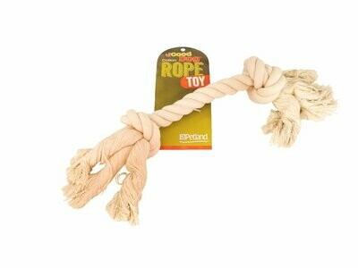 GOOD DOG NATURAL 2 KNOT ROPE TOY 12