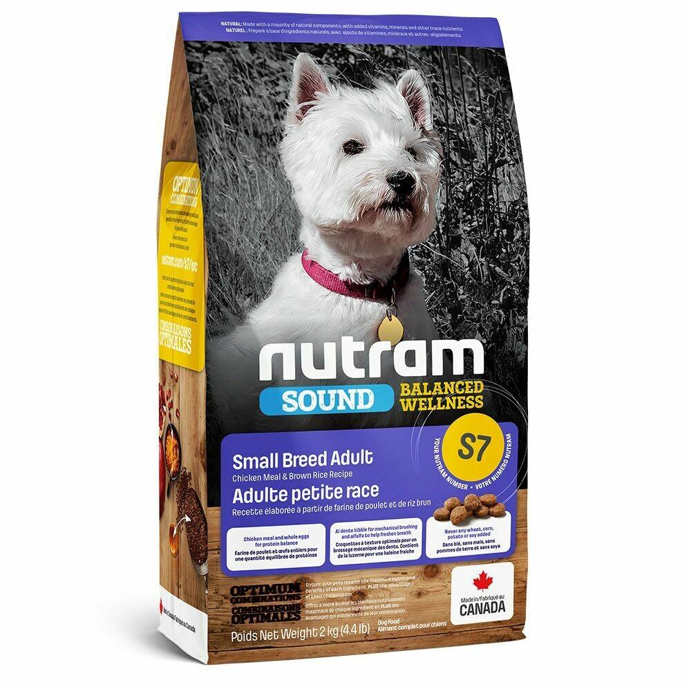 NUTRAM DOG S7 ADULT SM BREED 2KG.