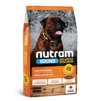 NUTRAM DOG S8 ADULT LG BREED 11.4KG.
