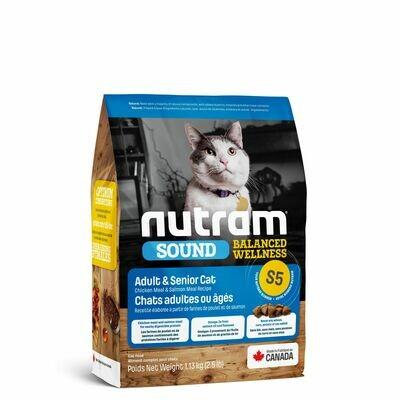 NUTRAM CAT S5 ADULT & SENIOR 1.13KG.
