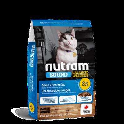 NUTRAM CAT S5 ADULT & SENIOR 5.4KG.