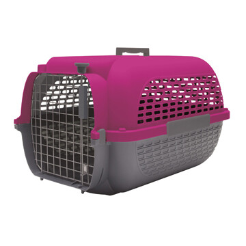 DOGIT VOYAGEUR CARRIER FUCHSIA/CHARCOAL - MED (22X14.8X12)