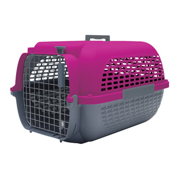 DOGIT VOYAGEUR CARRIER FUCHSIA/CHARCOAL - SM (19X12.8X11)