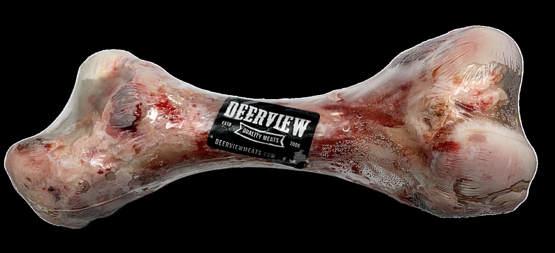 DEERVIEW FROZEN WHOLE BEEF LEG BONE.