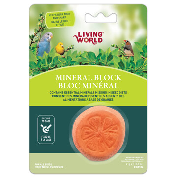 LIVING WORLD BIRD MINERAL BLOCK ORANGE.