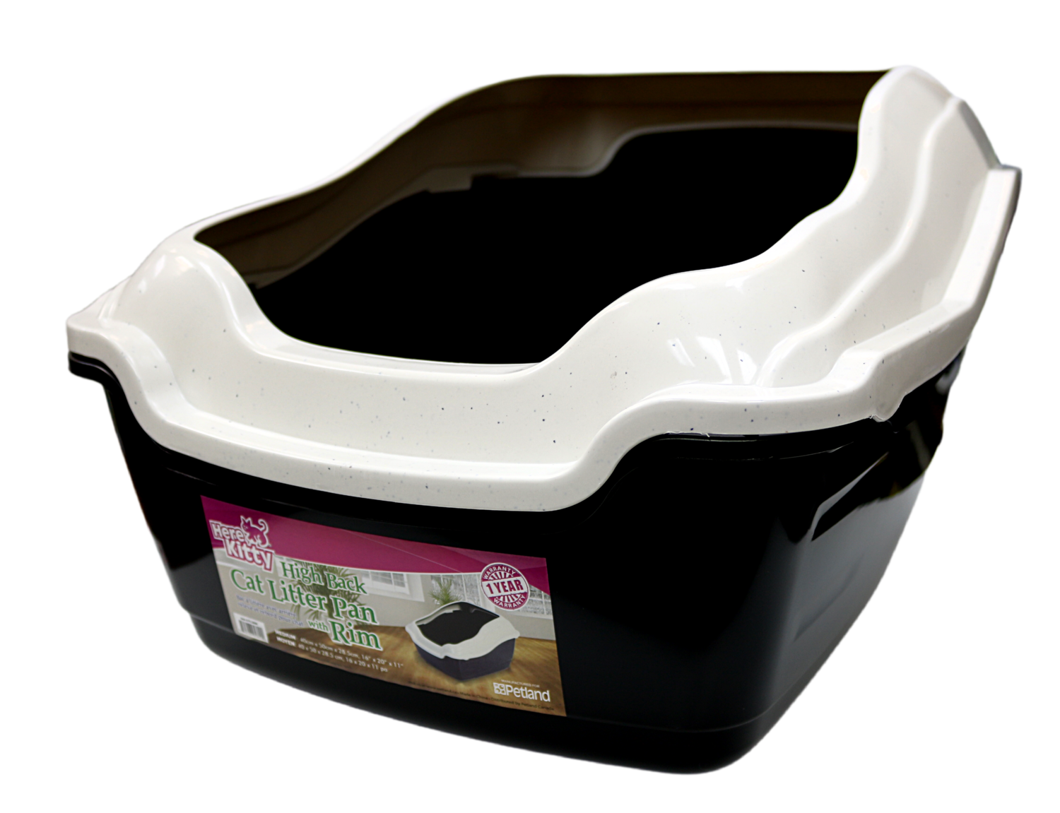 HELLO KITTY HIGH BACK LITTER PAN W/RIM.